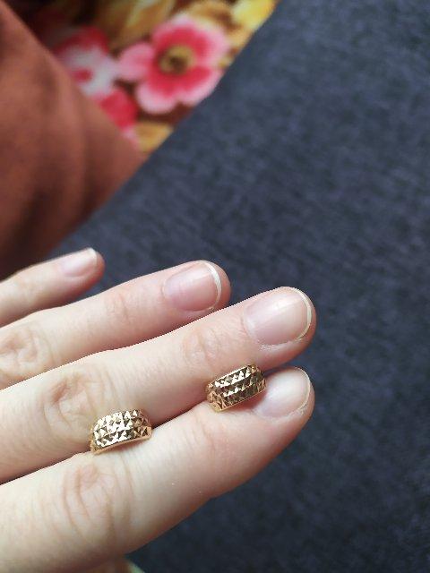 Сережки с алмазной обработкой