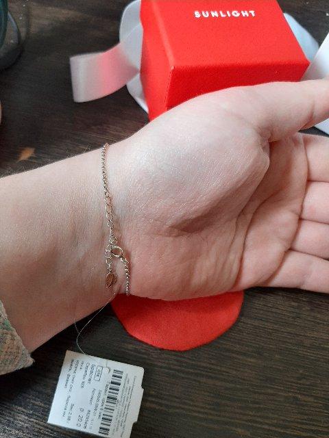 Очень милый и нежный браслет