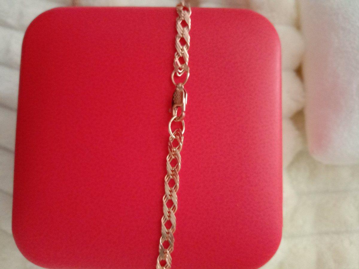 Серебряная цепочка, не отличить от золотой