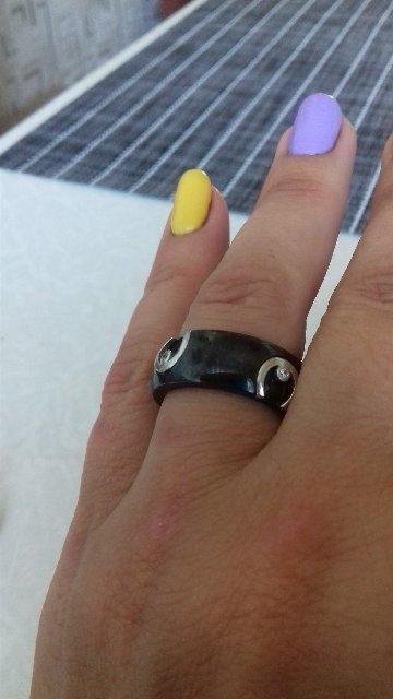 Кольцо с серебром и фианитами