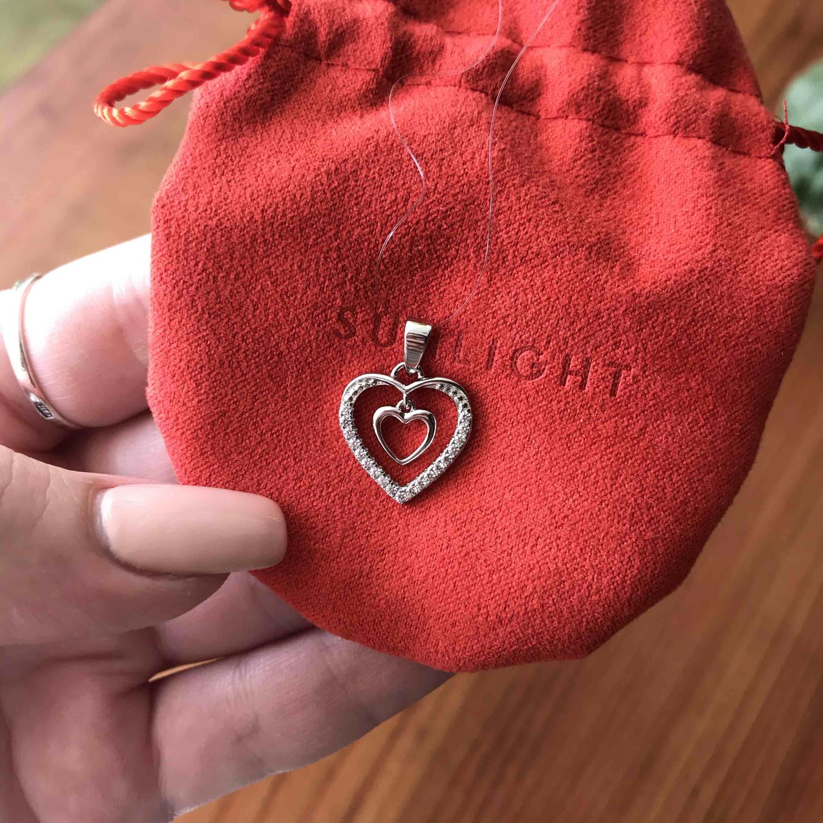 Подвеска сердце.