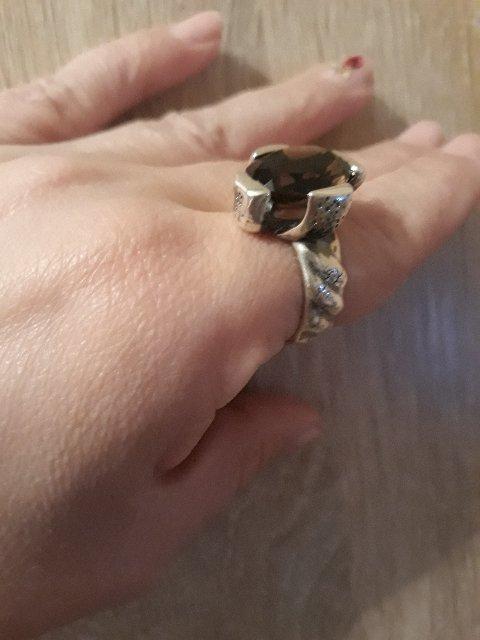 Кольцо с раухтопазом!!!