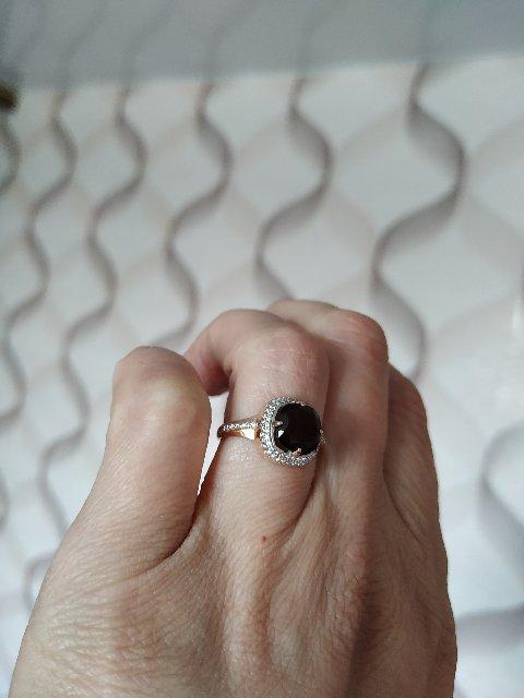 Серебряное кольцо с позолотой.Камень раухтопаз, покупала с 10% скидкой
