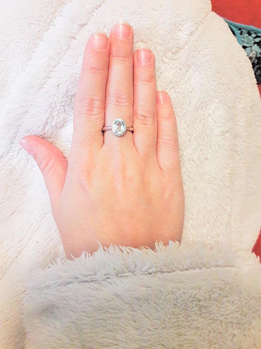 Кольцо серебряное с топазом и фианитами