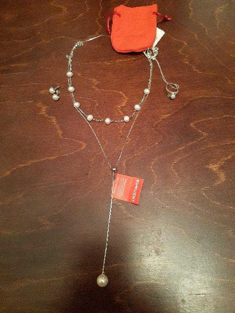Серебряная цепочка с жемчужинкой