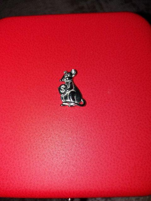 Мышка из серебра.