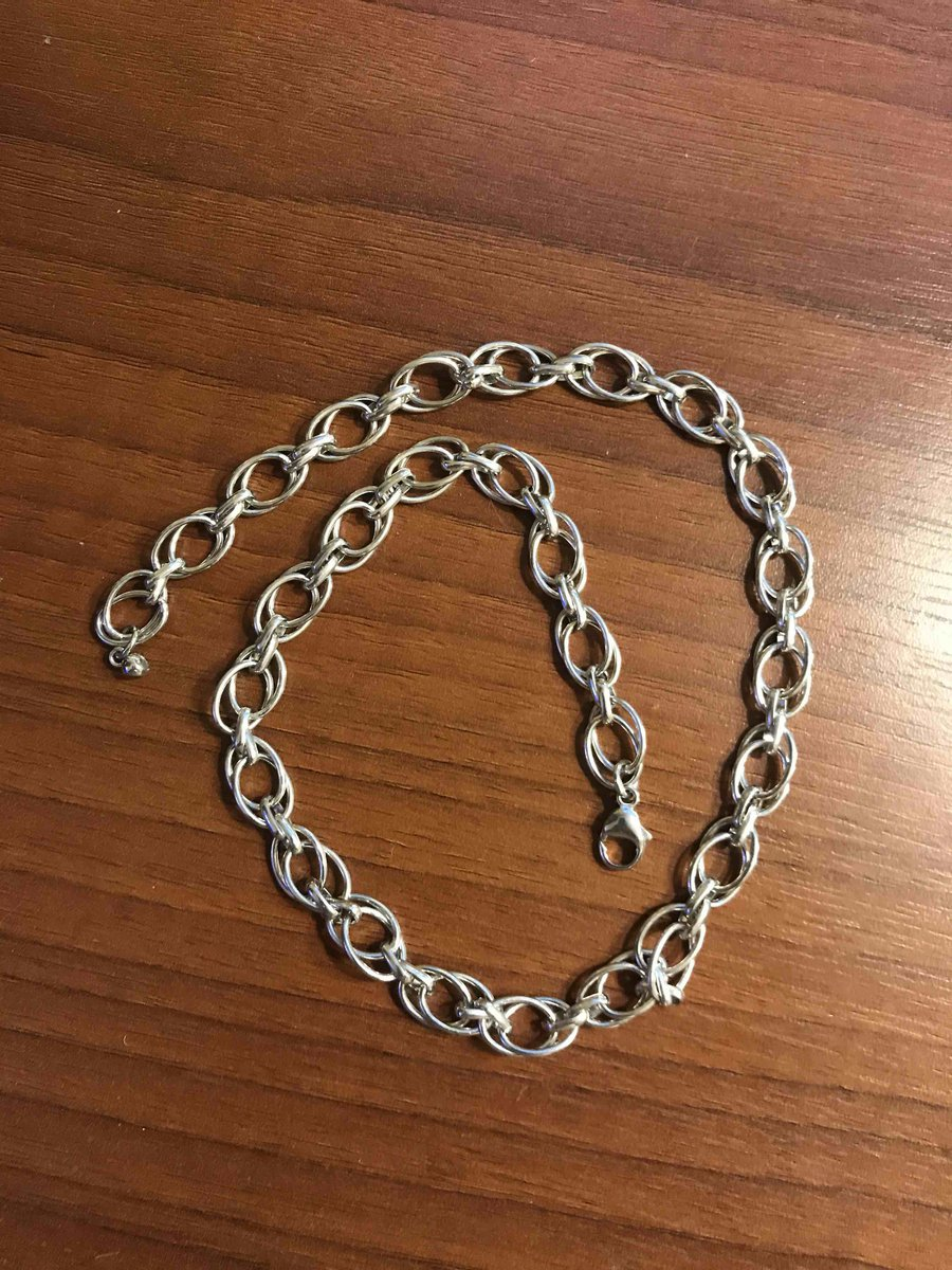 Серебряная цепь 45 см