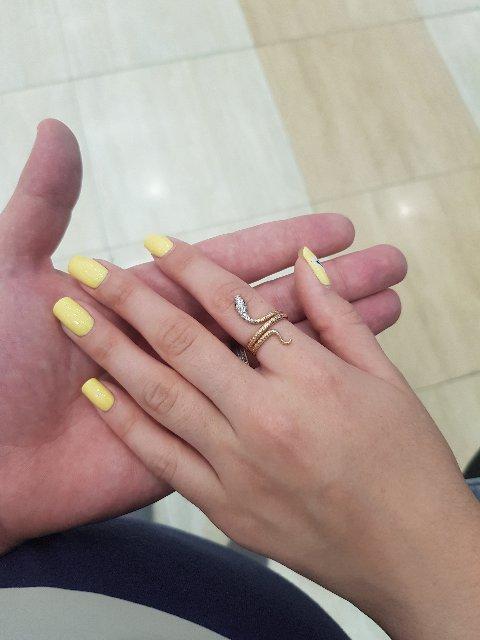 Супер красивое кольцо в форме змеи