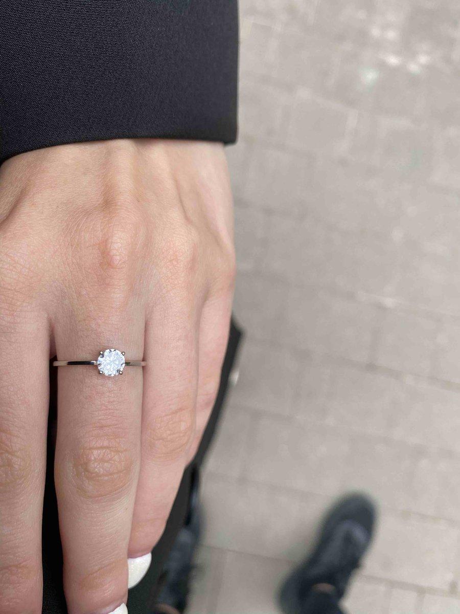 Золотое кольцо с фианитам