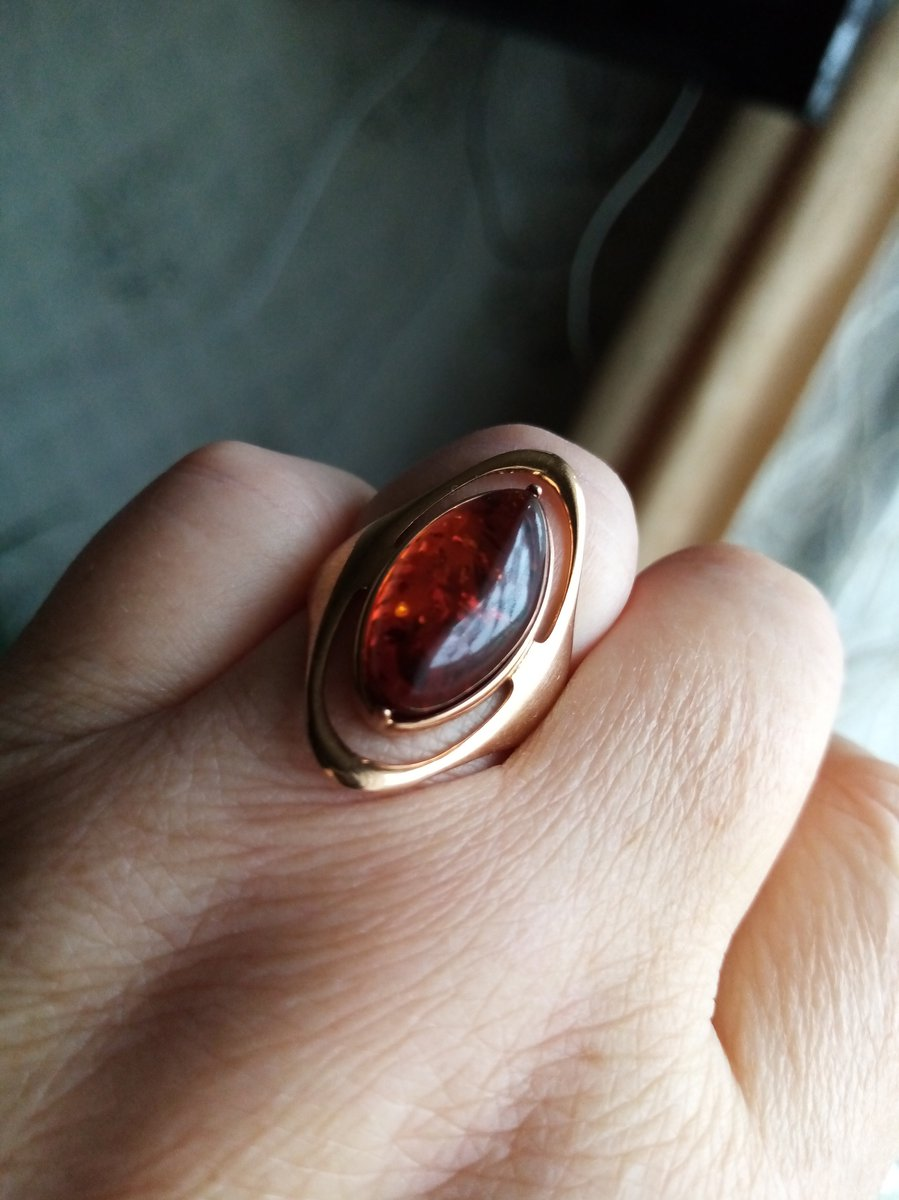 Кольца с янтарем