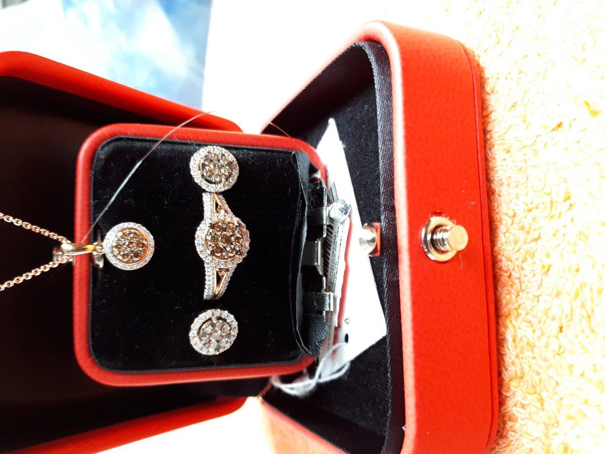 Подвеска с коньячными бриллиантами