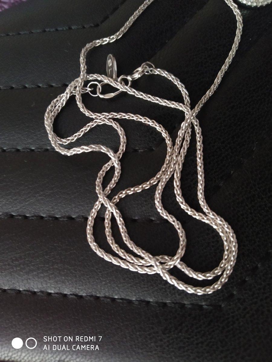 Красивая серебряная цепочка