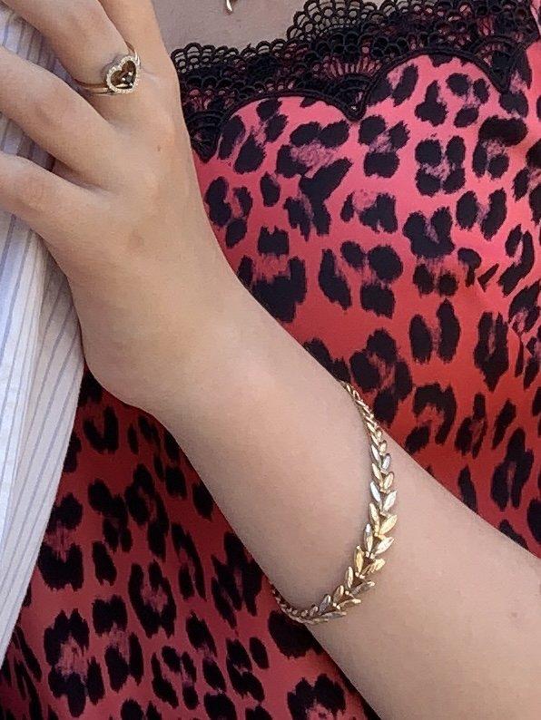 Шикарный золотой браслет