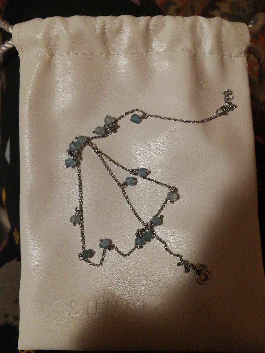 Красивое ожерелье с аквамарином