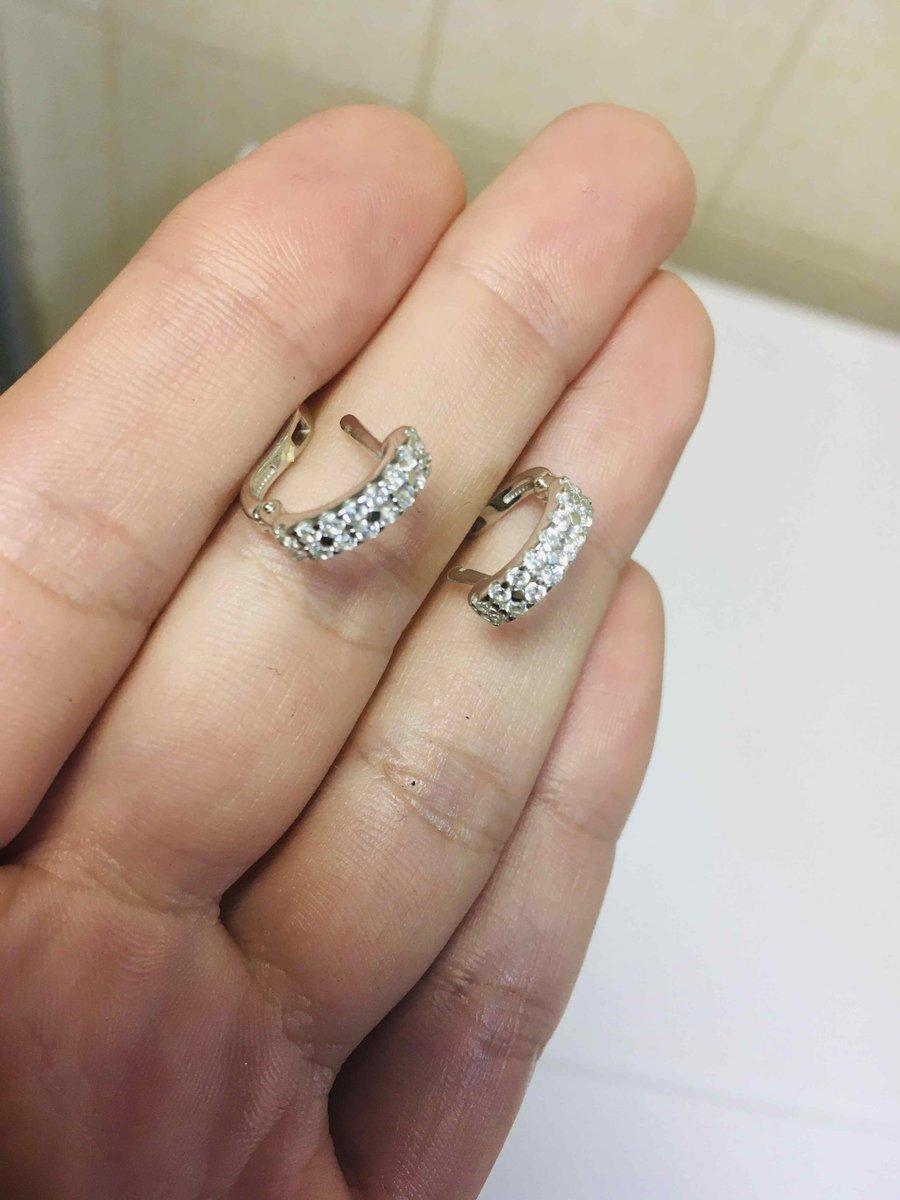 Серебрянные серьги с фианитами