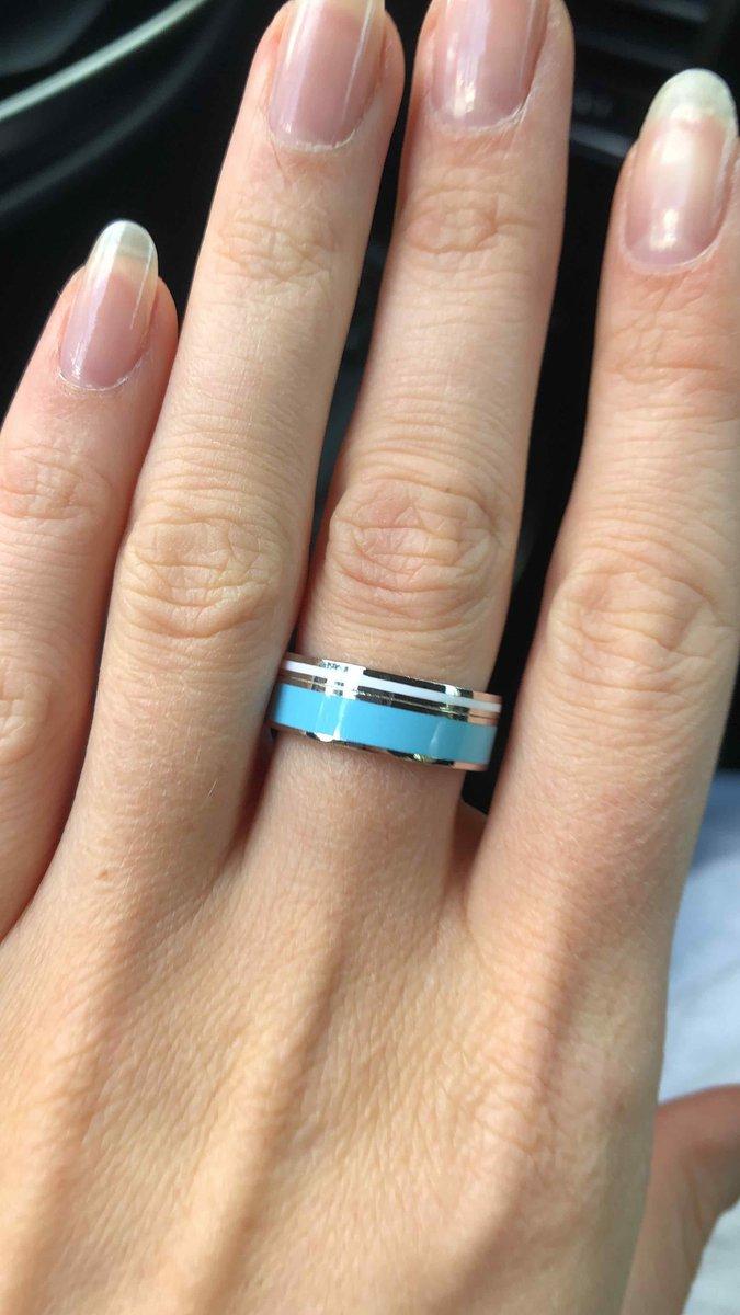 Кольцо с бирюзовой эмалью