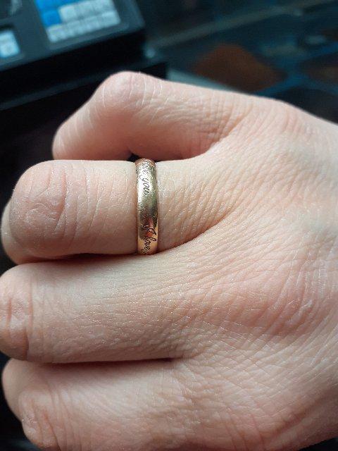 Абручальную колцо муж мне подарил из сонлайн