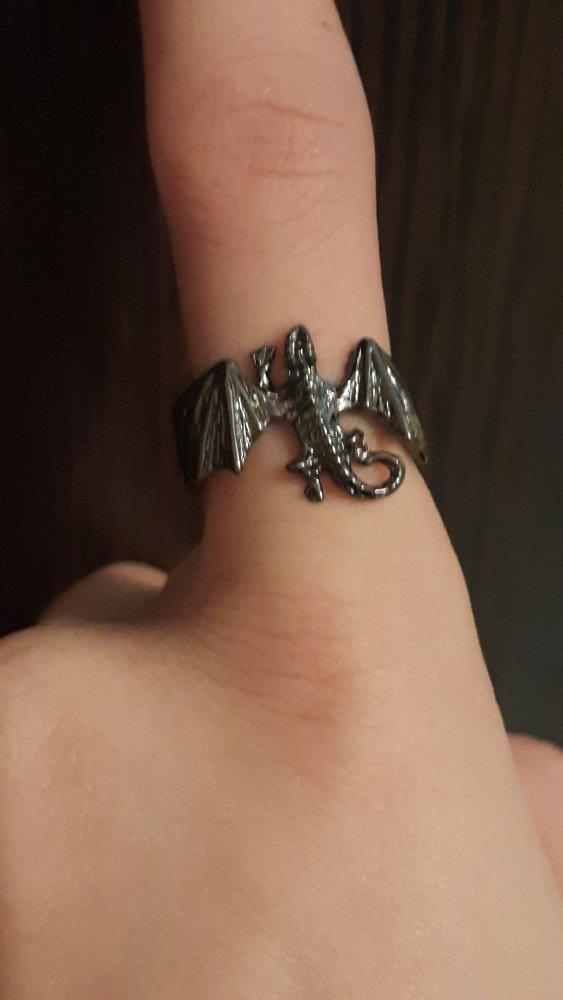 Серебряное кольцо из гари потера эмалированое