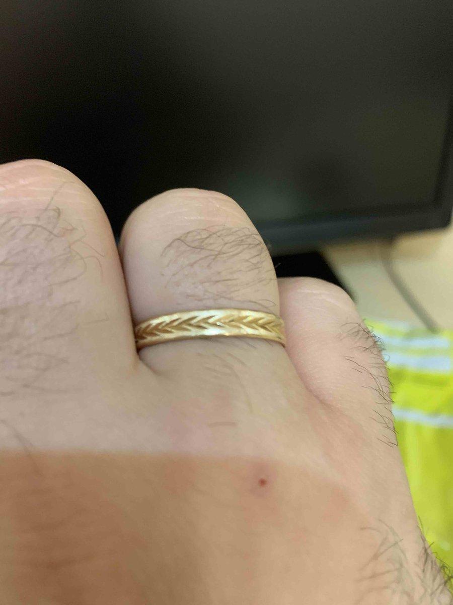 Кольцо мужское для свадьбы