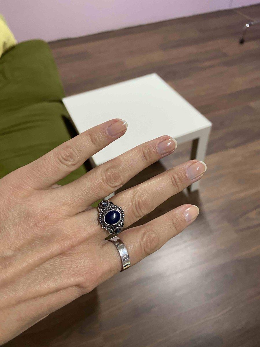 Простое серебряное кольцо)