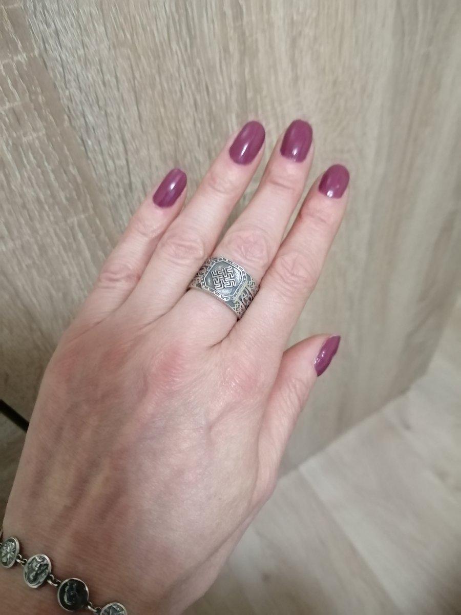 Кольцо серебрянное оберёг