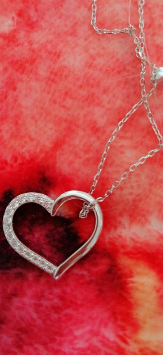 """Подвеска """"сердечко"""" с цепочкой серебро"""