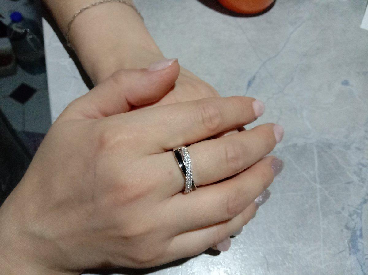 Кольцо м керамикой