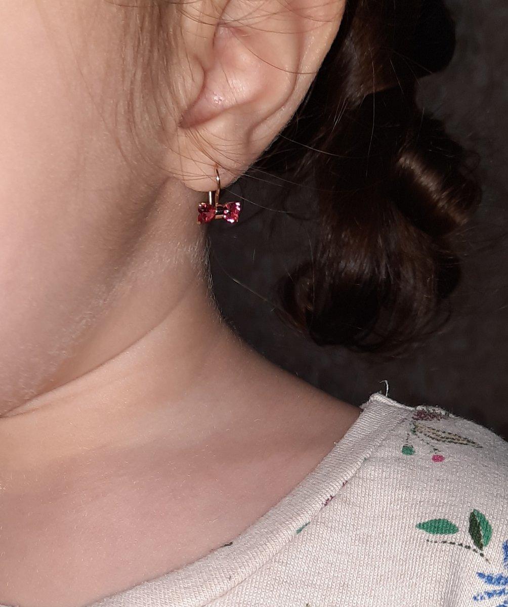 Шикарные серёжки для маленькой принцессы