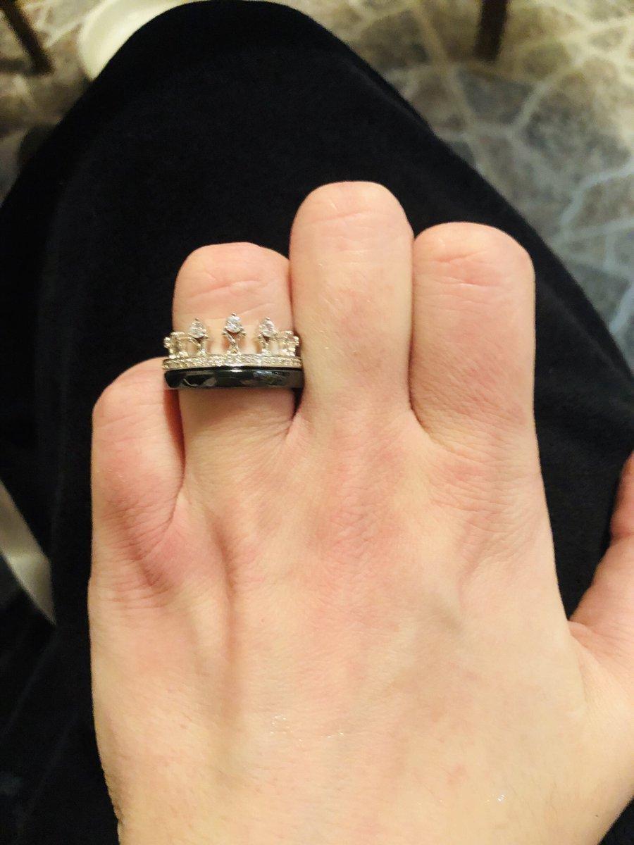 Кольцо керамика и серебро в виде короны