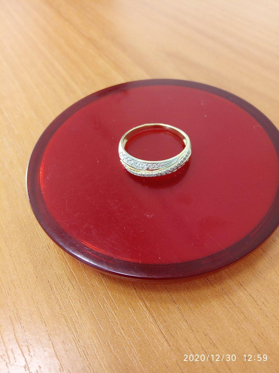 Кольцо из жёлтого золота с фианитами