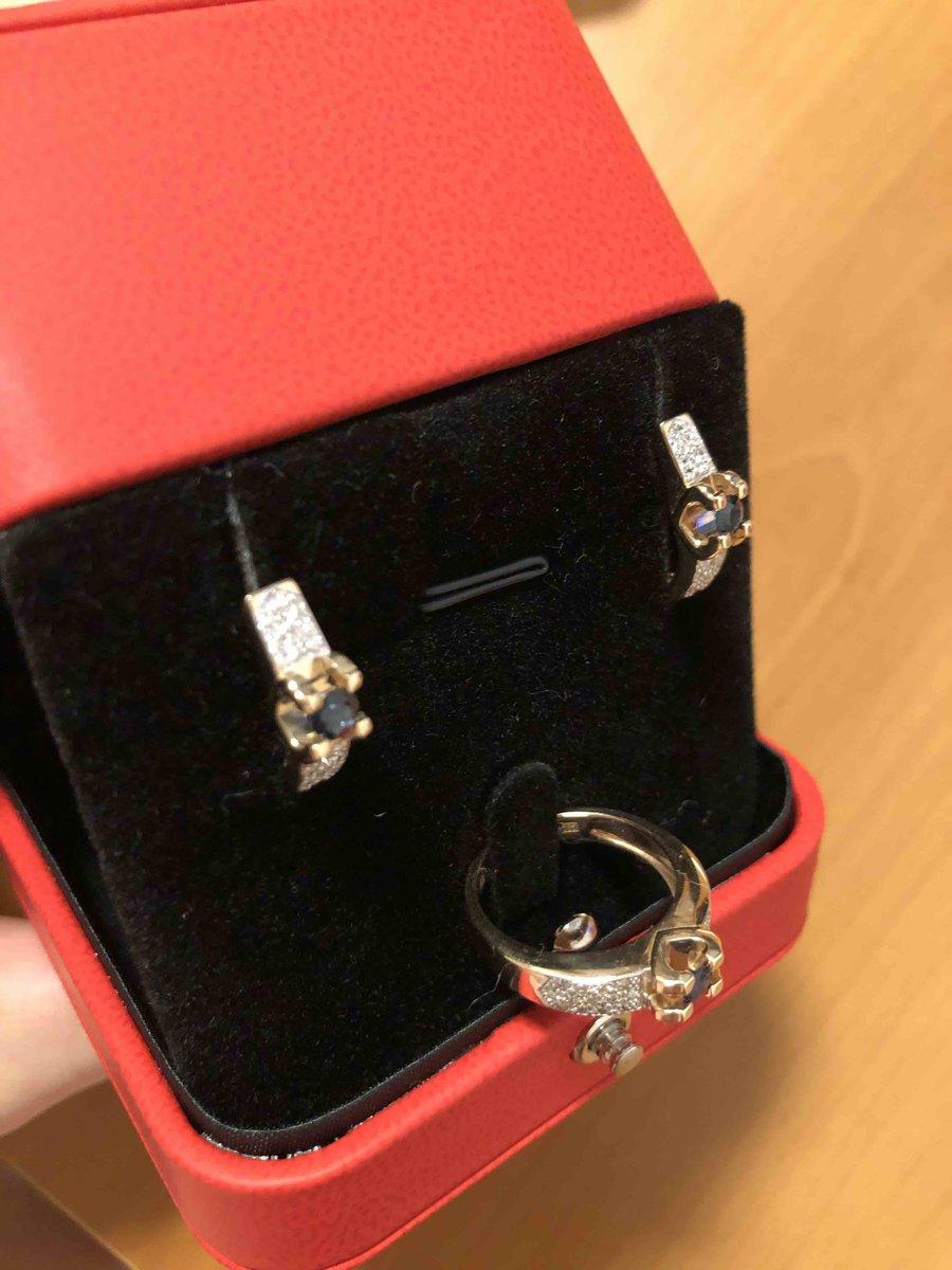 Шикарные серьги с сапфиром и бриллиантами 💙🤍
