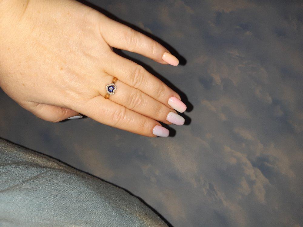 Сердце с сапфиром и бриллиантами