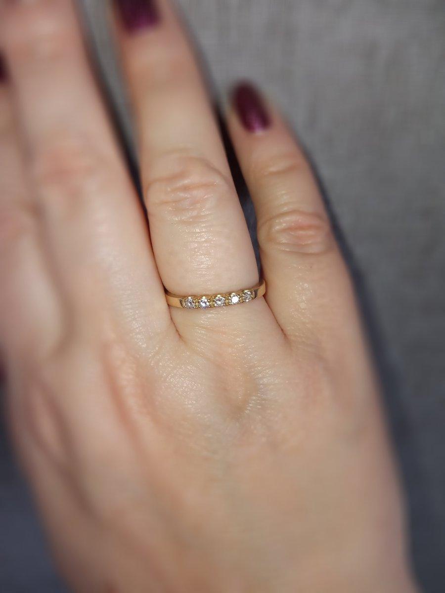Обручальное кольцо с бриллиантами!