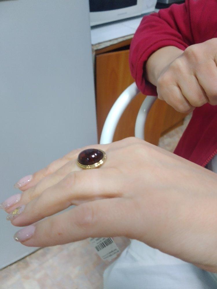 Серебреное кольцо с янторем