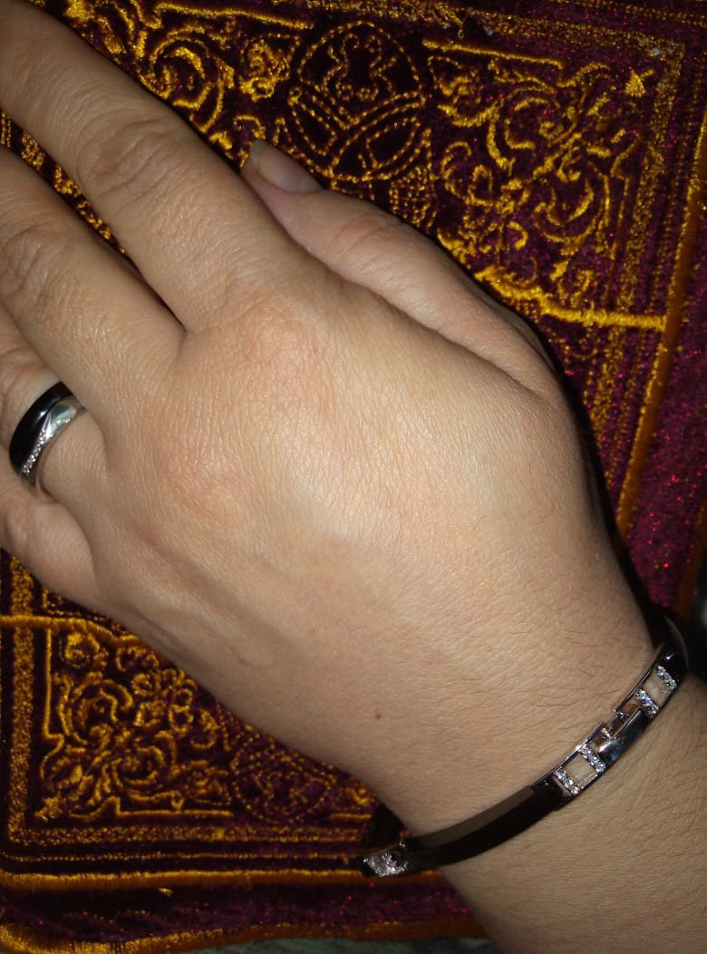 Браслет серебро с керамикой