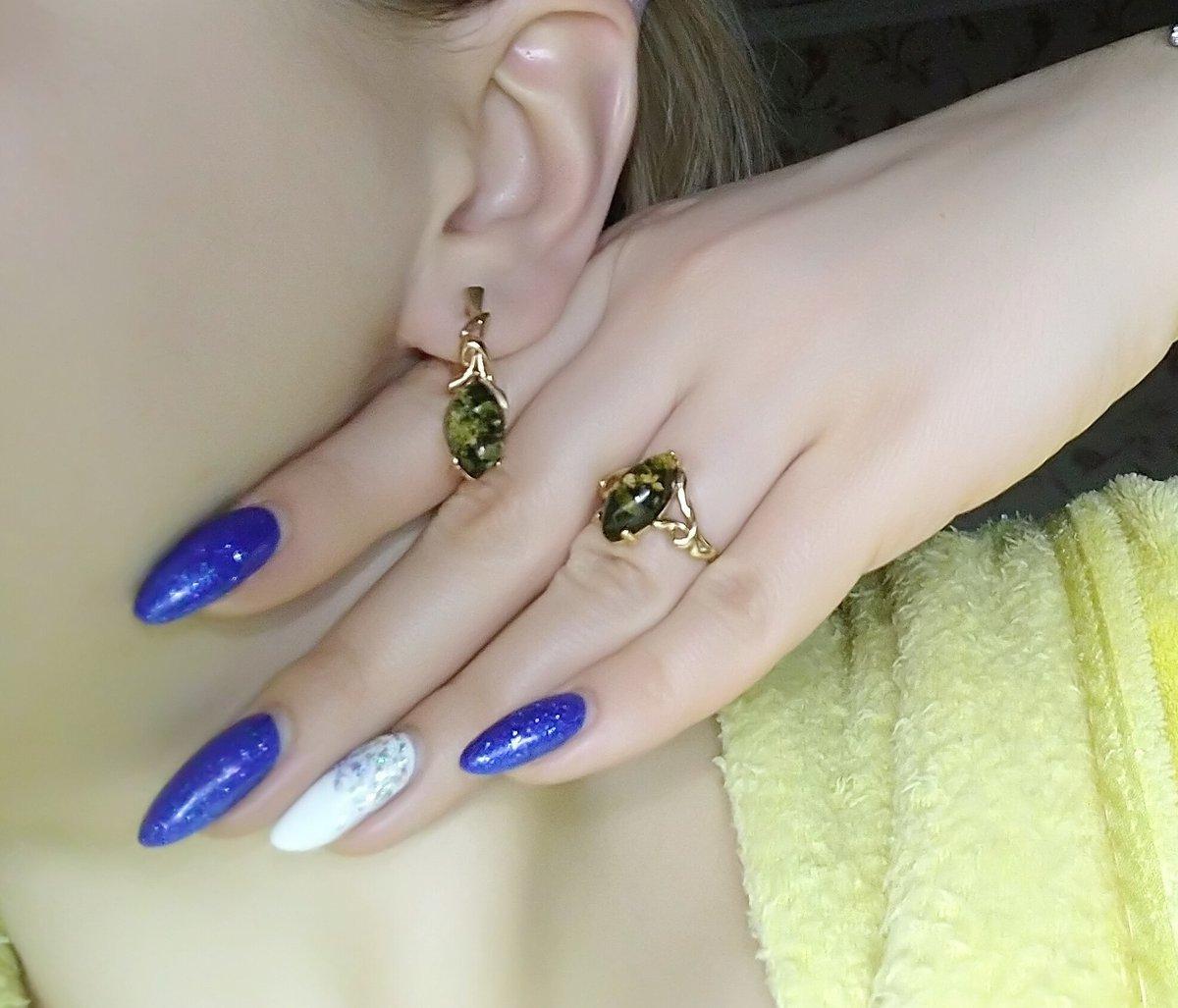 Комплект кольцо+серьги