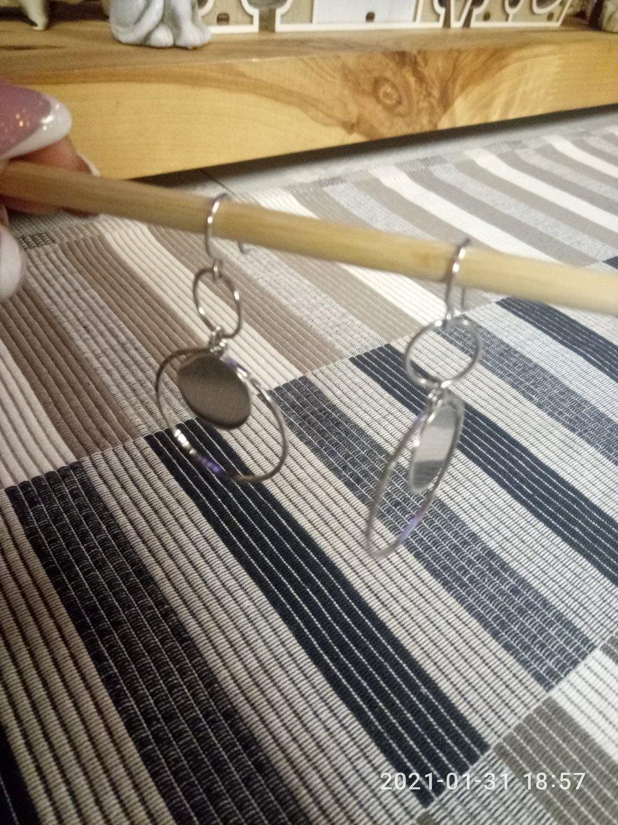 Красивые нежные сережки