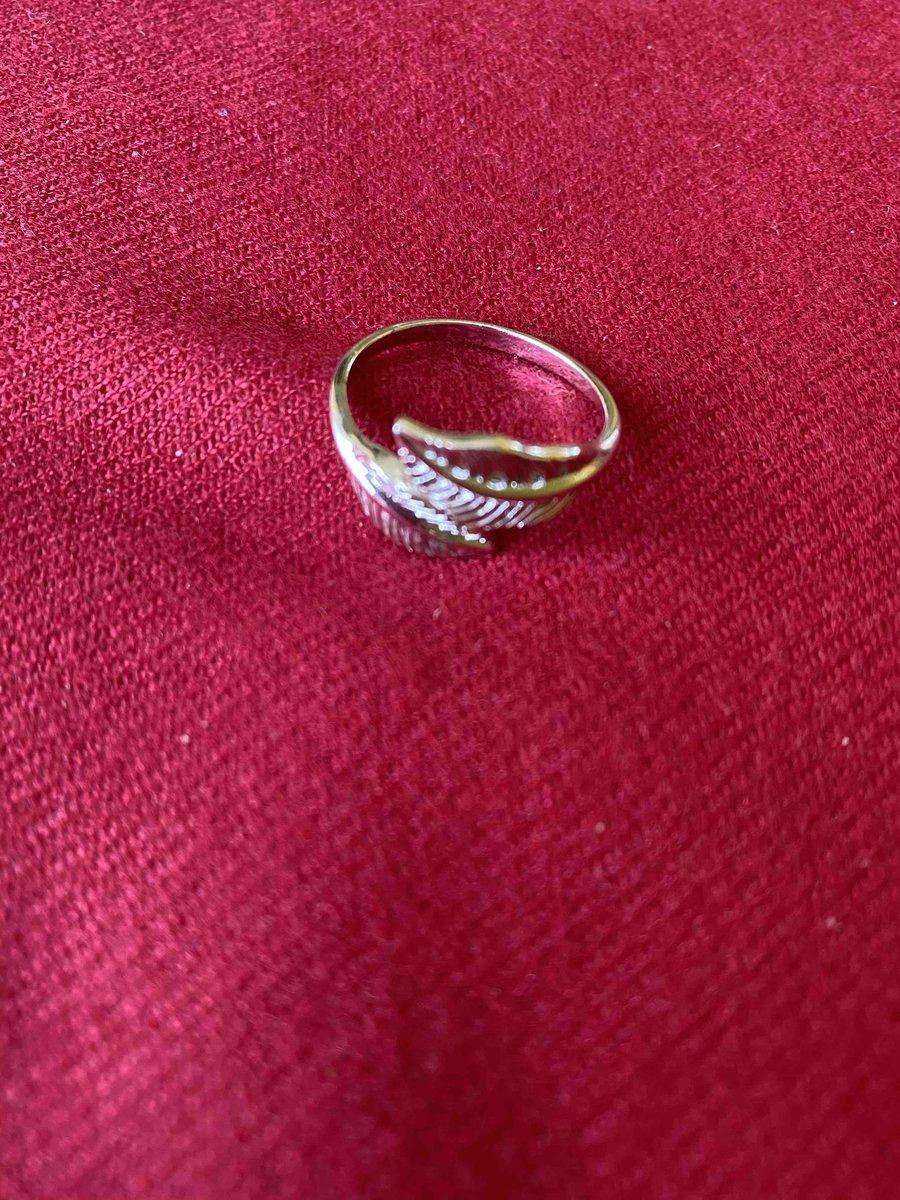 Кольцо с пёрышками
