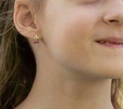 Прекрасные серьги для маленькой принцессы