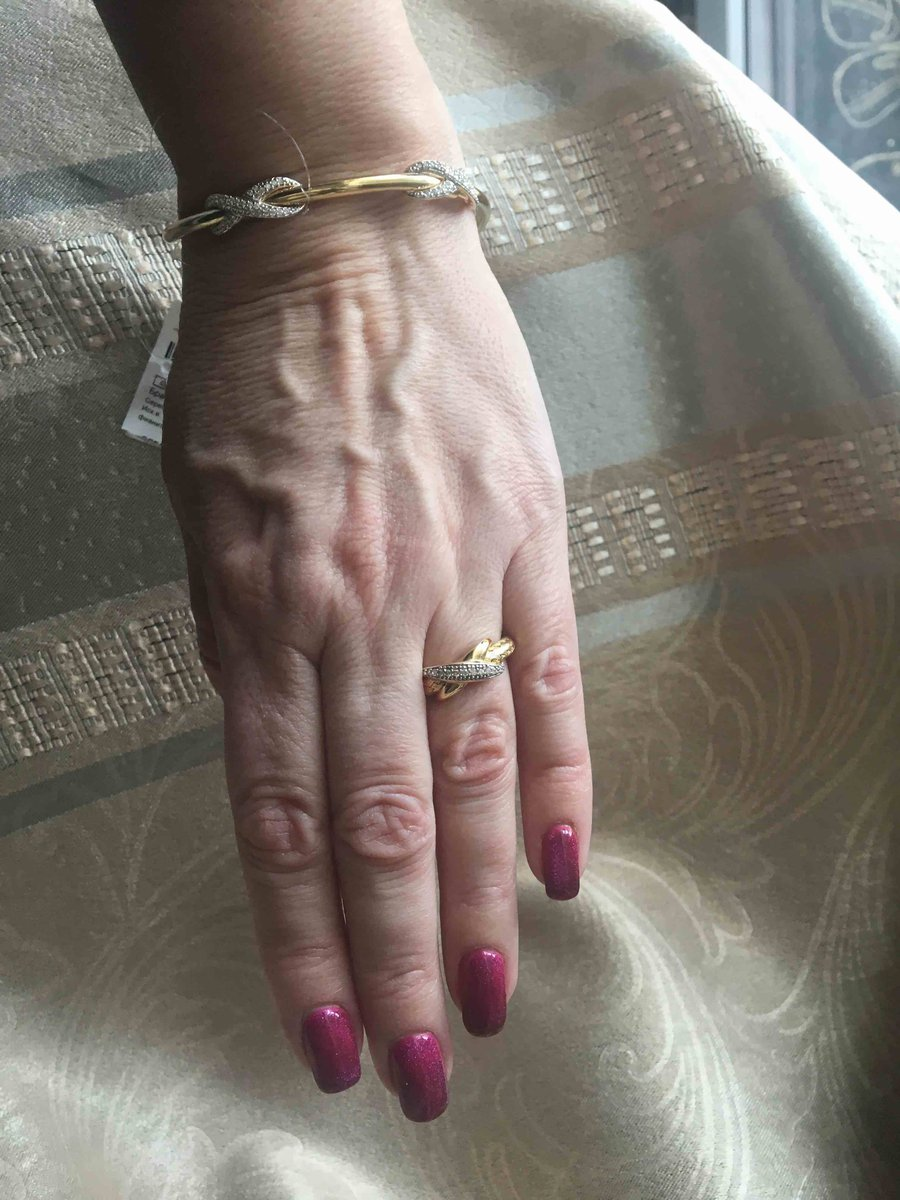 Классический браслет из желтого серебра