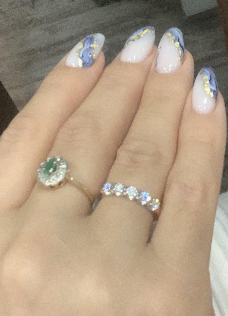 Кольцо с бриллиантами «дорога счастья»