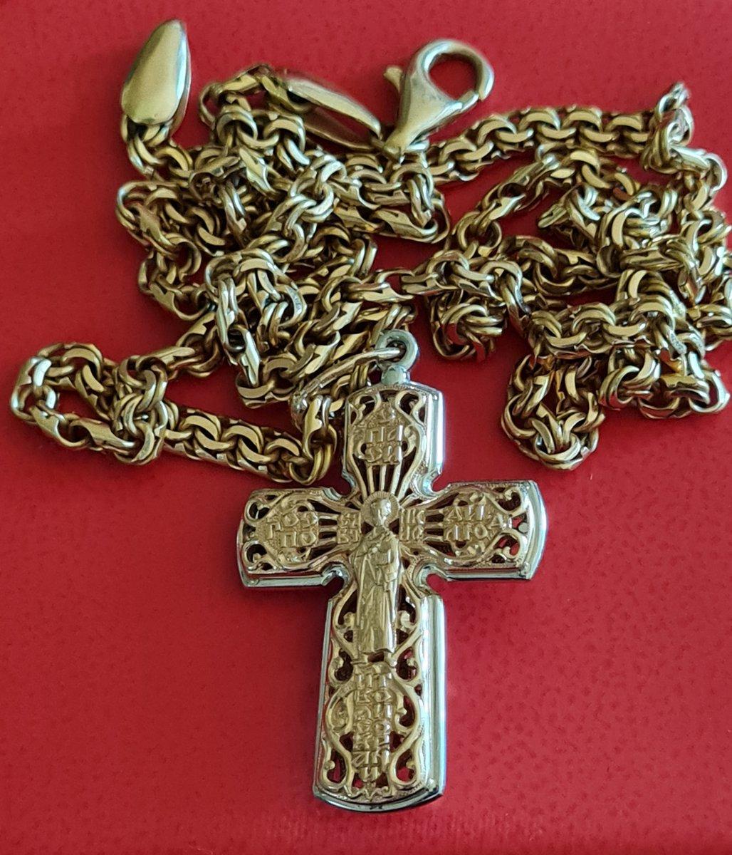 Золотой крест aquamarine