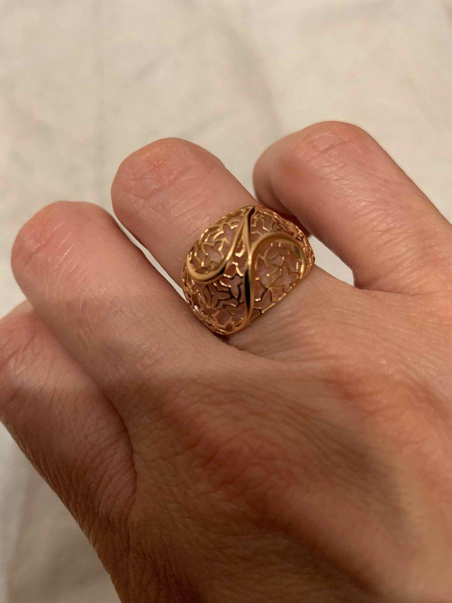 Золотое ажурное кольцо , бренд сорокин.