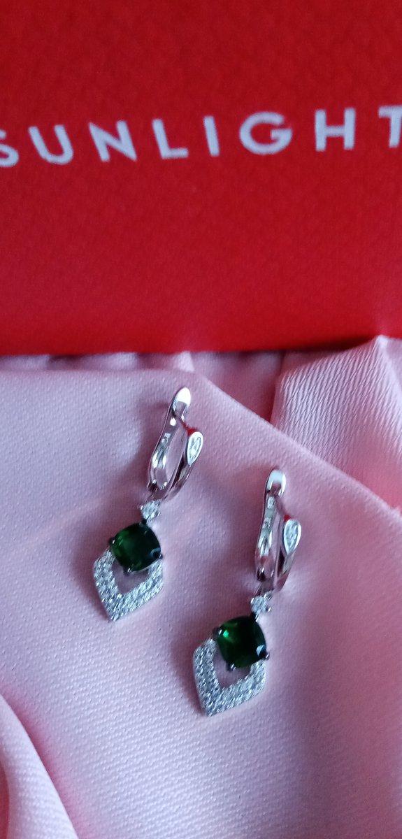 Зелёные серёжки.