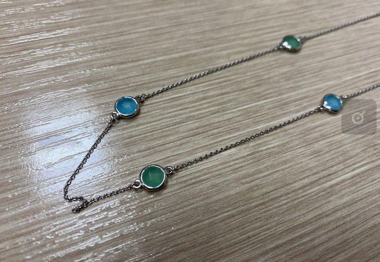 Серебрянный браслет с алпанитом