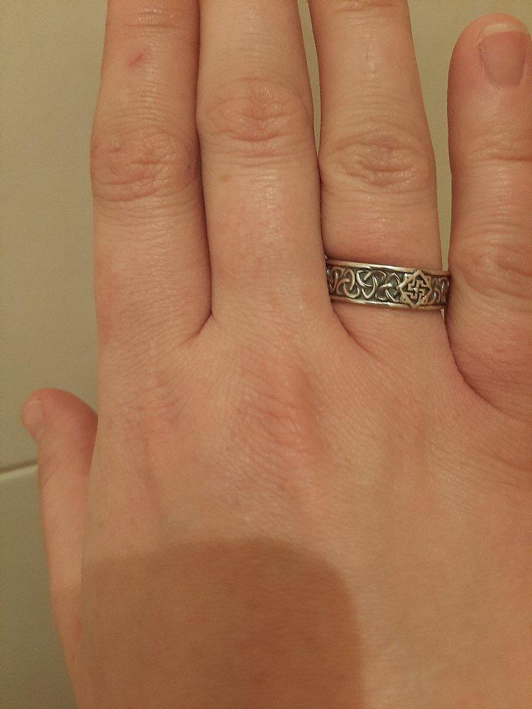 Кольцо серебряное валькирия