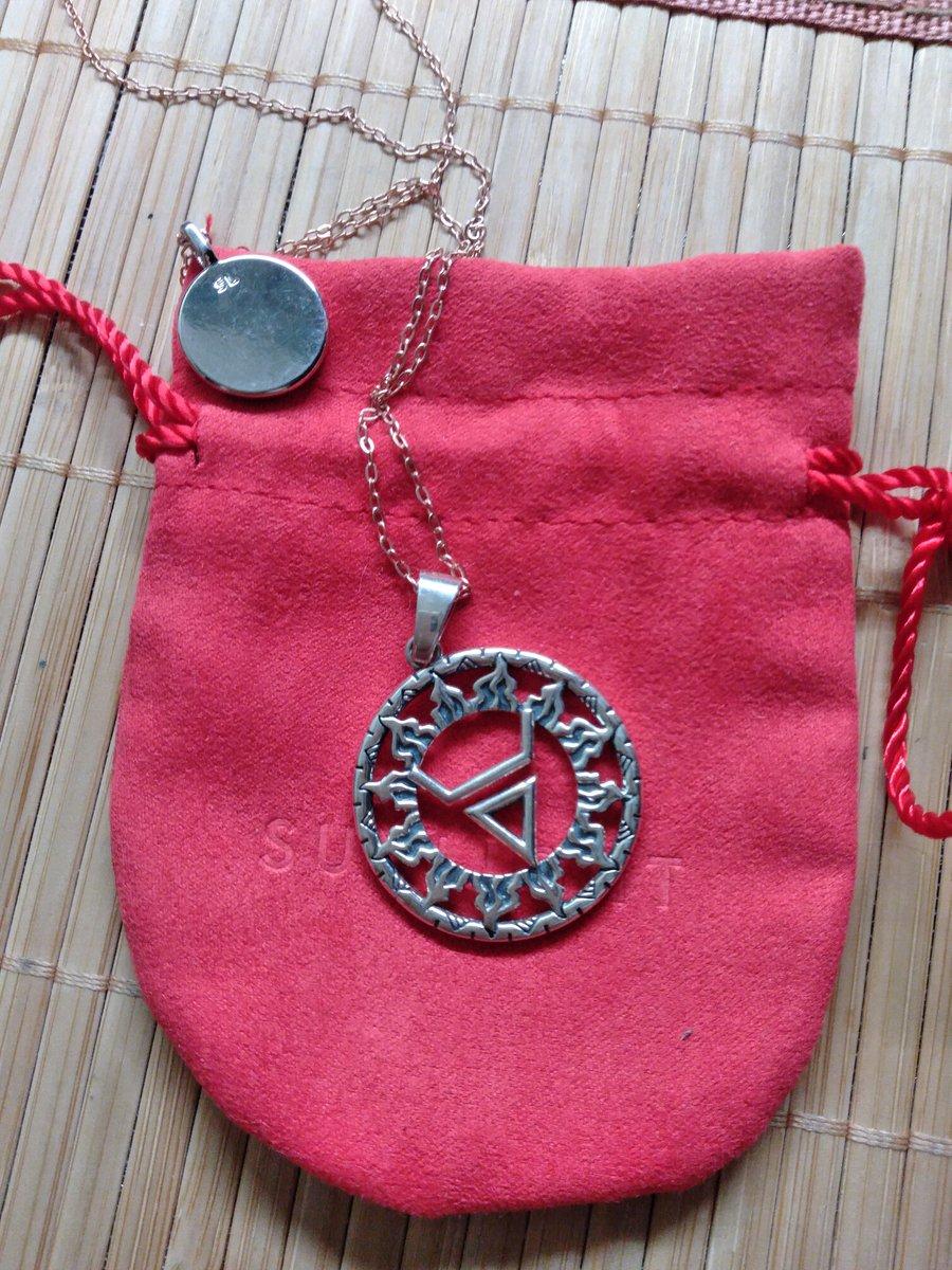Серебряная подвеска- оберег. символ-велеса.