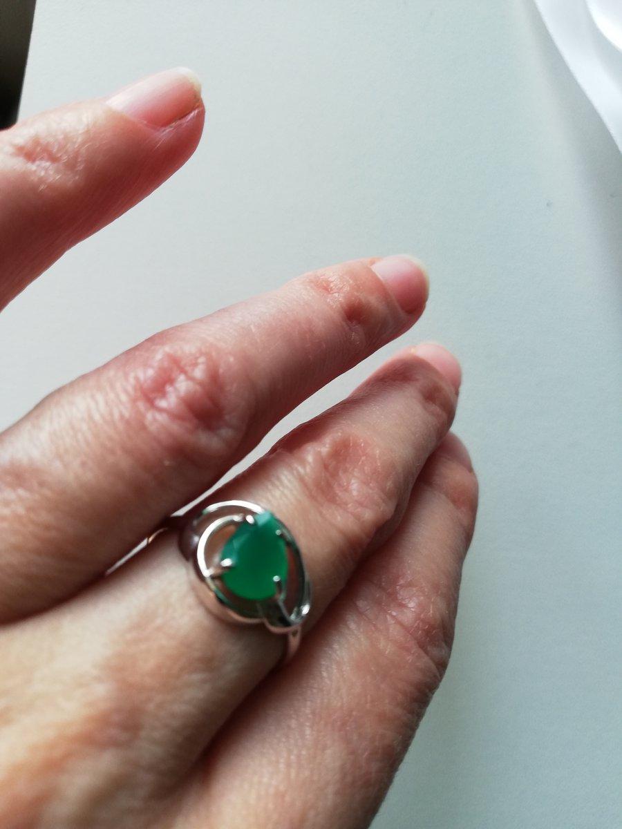 Великолепный зелёный агат
