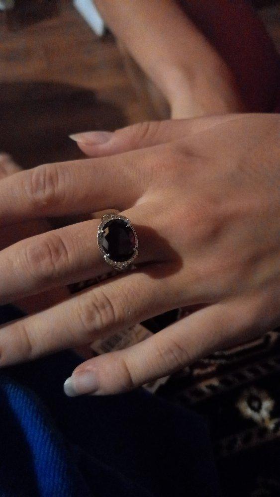 Гранат кольцо.