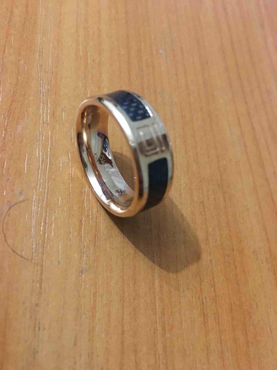 Кольцо из стали с корбоном